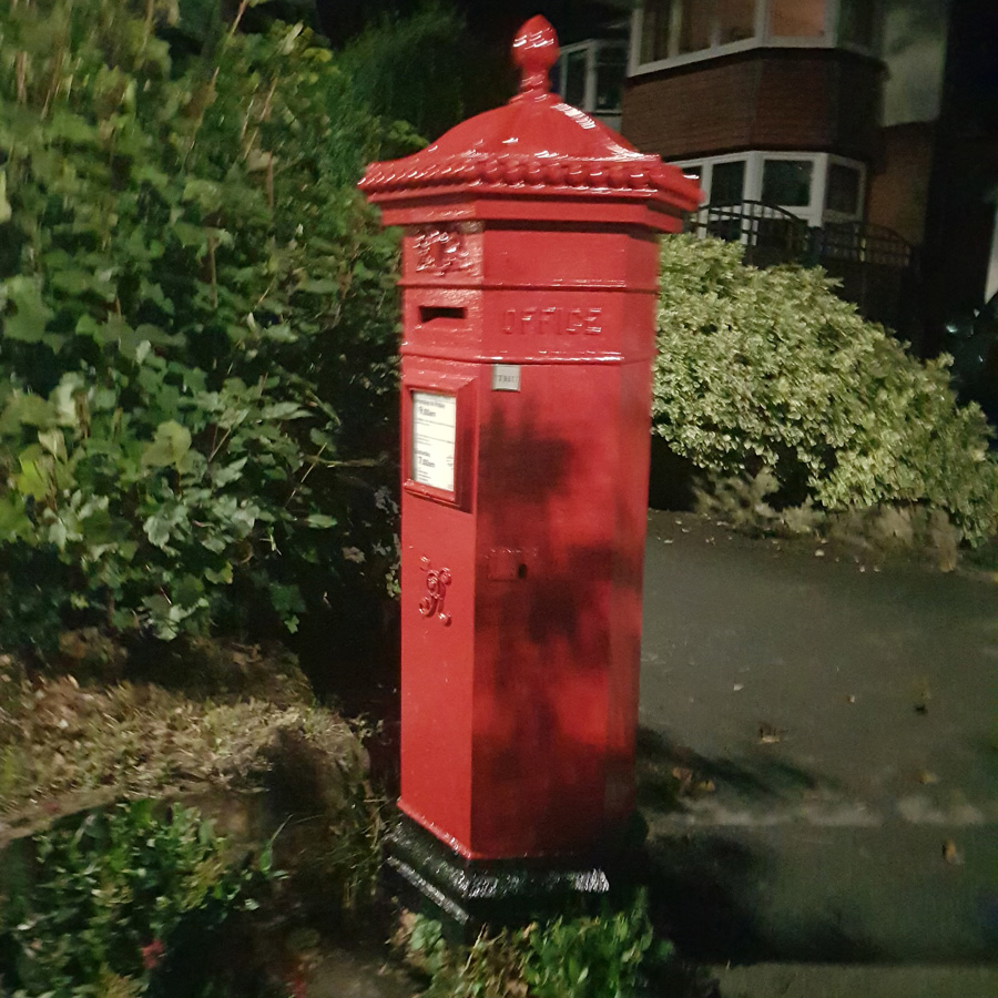 Hexagonal Penfold Victorian Post Box in Carshalton Beeches is Over 150 Years Old