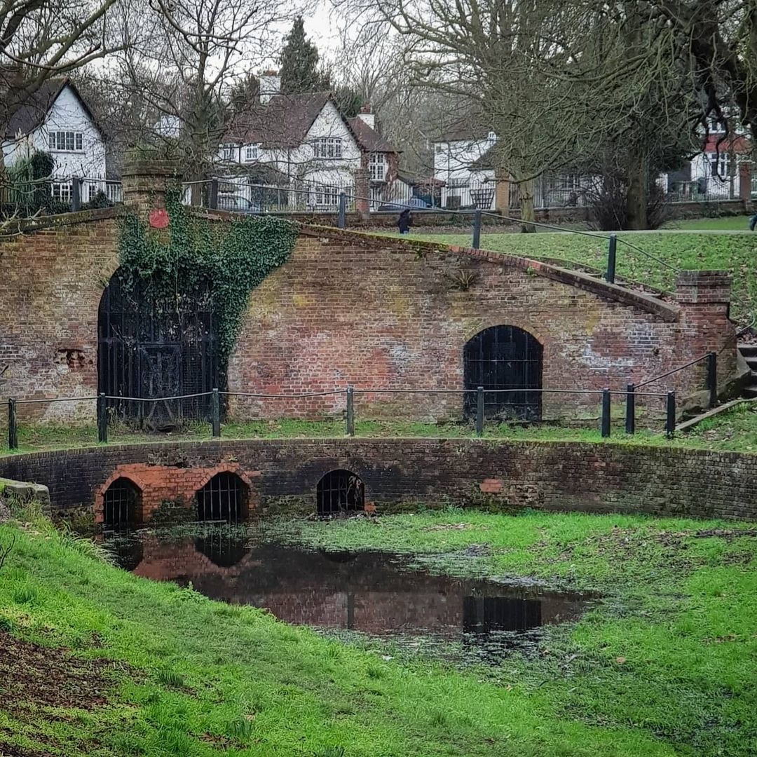 The Grotto In Carshalton Park Was Once Completely Covered in Flint